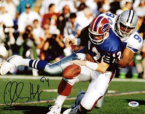 Autographed Charles Haley Photograph   11X14 Vs Kelly   Psa Dna Certified   Autographed Nfl Photos