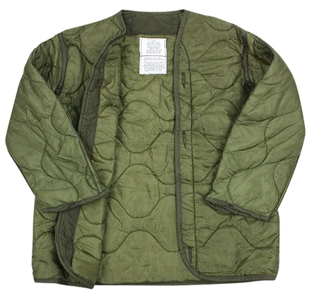 Amazon.com  US Army Military M-65 Field Jacket Quilted OD Olive Drab Green  GI Coat Liner GI  Clothing 6f5cda42541