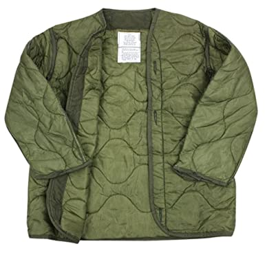 Amazon.com: US Army Military M-65 Field Jacket Quilted OD Olive ... : quilted jacket liner - Adamdwight.com