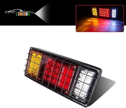 12 V LED Stop Tail Turn Signal Lights Break Trailer RV Truck Light Kit Boat Red