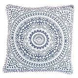 Euro Pillow Cover 26x26, Ombre Mandala Floor Cushion, Decorative Throw Pillow Cases, Indian Outdoor Cushion Cover, Pom Pom Pillow Shams