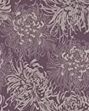 Graham and Brown 17833 Chrysanthemum Wallpaper, Purple