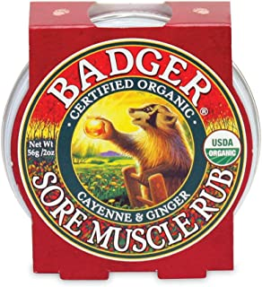 product image for Badger - Sore Muscle Rub, Cayenne Pepper and Ginger, Organic Sore Muscle Rub, Warming Balm, Muscle Relief Balm, Warming Muscle Rub, Sore Muscle Balm, 2 oz