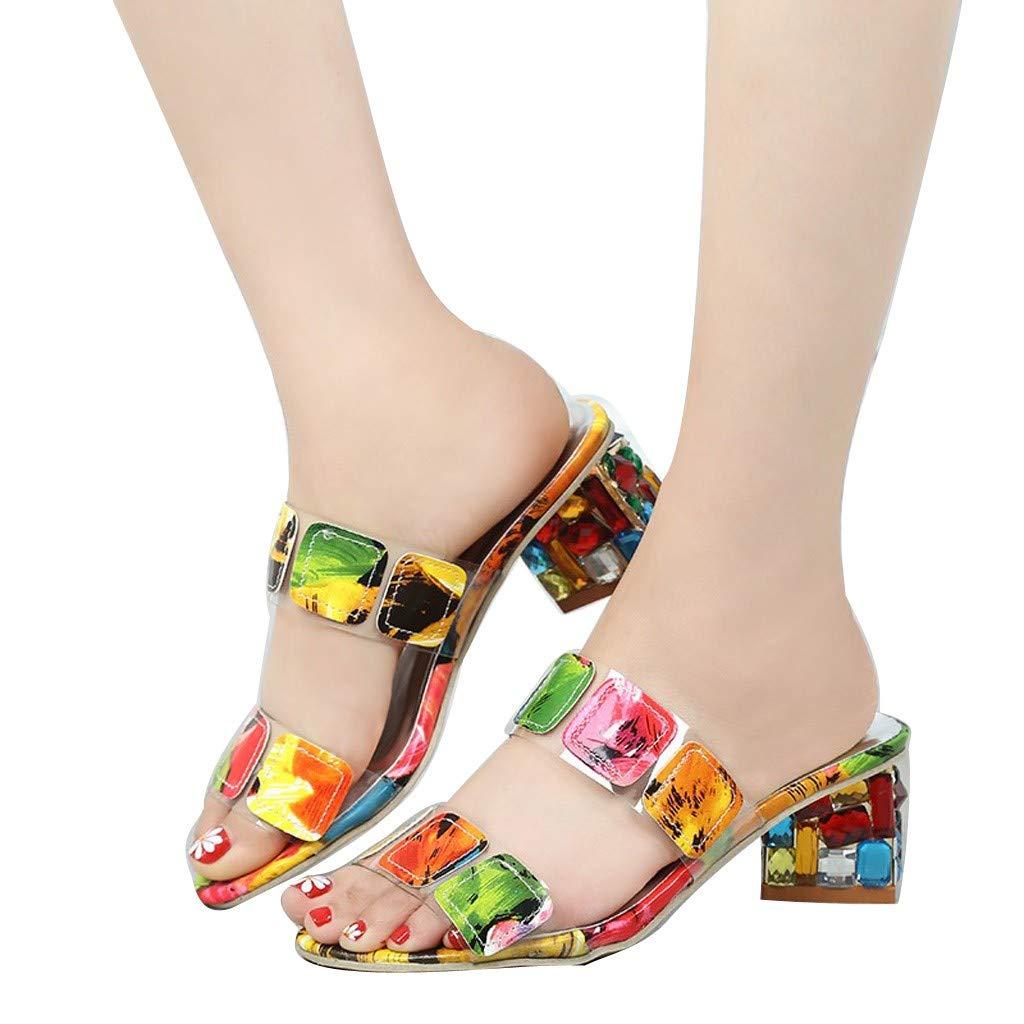 Ladies Pumps Non-Slip Bath Sandals,FAPIZI Rhinestone Foams Sole Pool Slippers Transparent Platform Shoes by FAPIZI Women Shoes (Image #2)