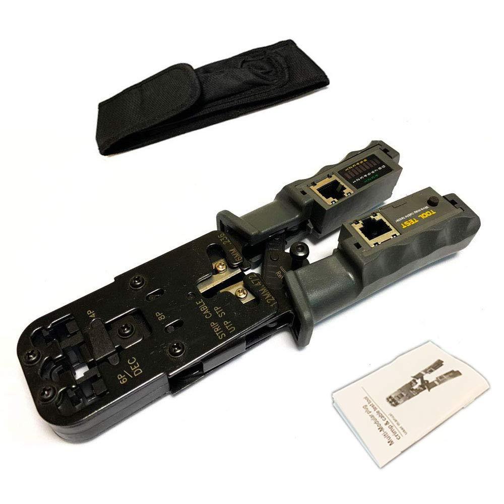 HT315 RJ-11 Crimp Cut cat5 cat5e cat6 Connector BoSpl/é 8P//RJ-45 and 6P//RJ-12 and Strip Tool BoSplé