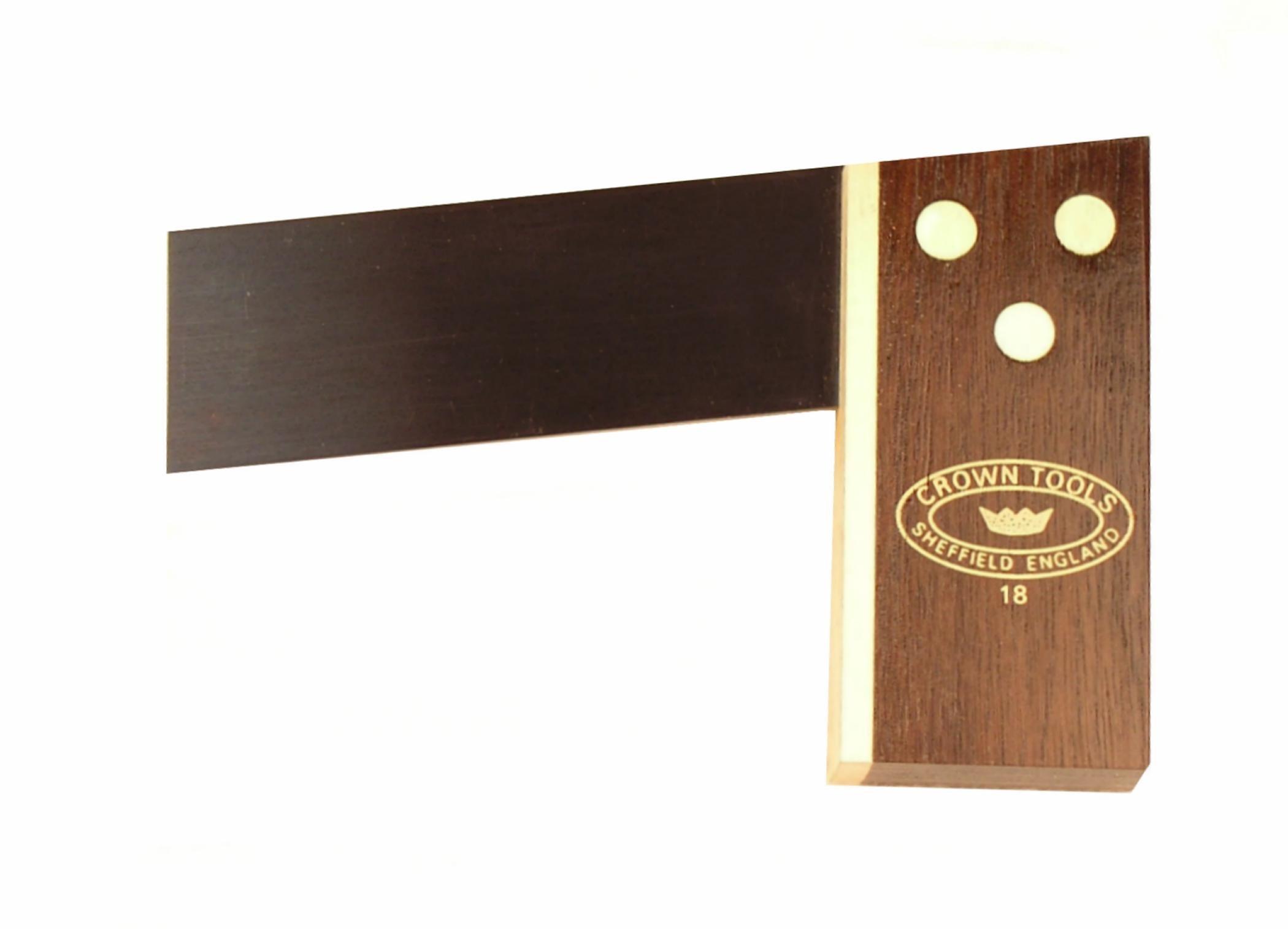 Crown 1238M 1:8 Hardwood Miniature Rosewood Dovetail Square