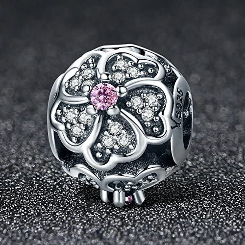 Everbling Good to Bee Queen Poetic Blooms Daisy Flower 925 Sterling Silver Bead Fits European Charm Bracelet
