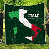 VTH Global Italy Quilt Pattern Blanket All-Season Quilts Comforters with Reversible Cotton King Queen Full Twin Size Quilted Campers Gifts RV Camping Lovers