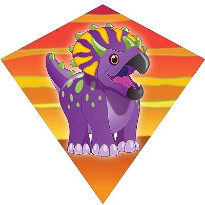 WindNSun Minidiamond Polyester Taffeta Triceratops Diamond Kite, 18 inches: Toys & Games