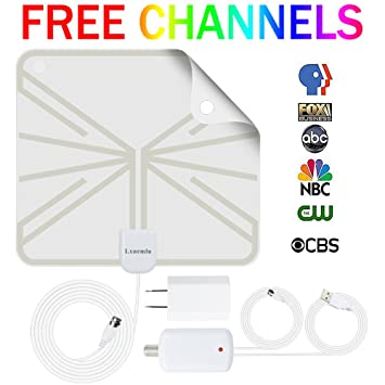 TV Antenna Indoor Digital HDTV Antenna, Lxuemlu 50 Miles Rang HD Antenna with Detachable Amplifier