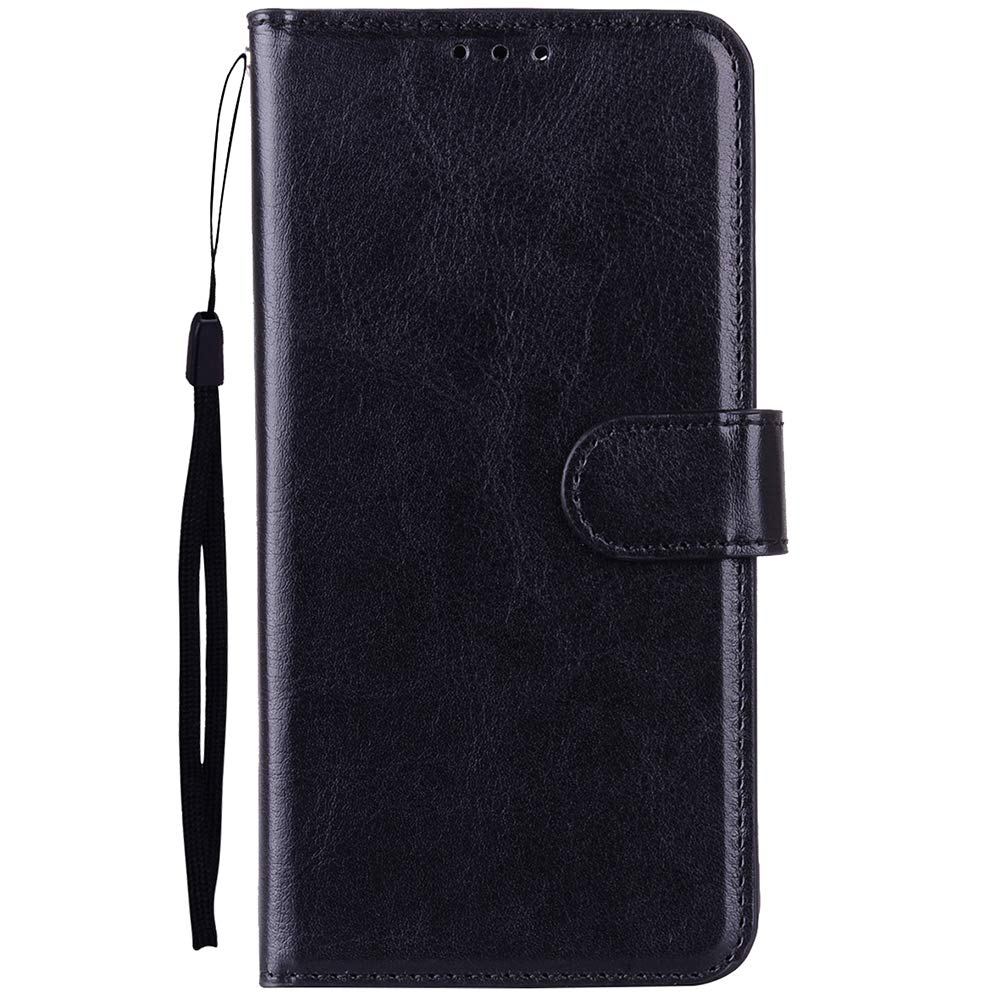 Alkax Wallet Case for LG K30 Case, LG Premier Pro Case, LG K10 2018 Case, Luxury PU Leather Flip Folio Protective Cover with Card Slots Holder Stand Shockproof Wrist Strap for LG K30 and Stylus-Black by Alkax (Image #2)