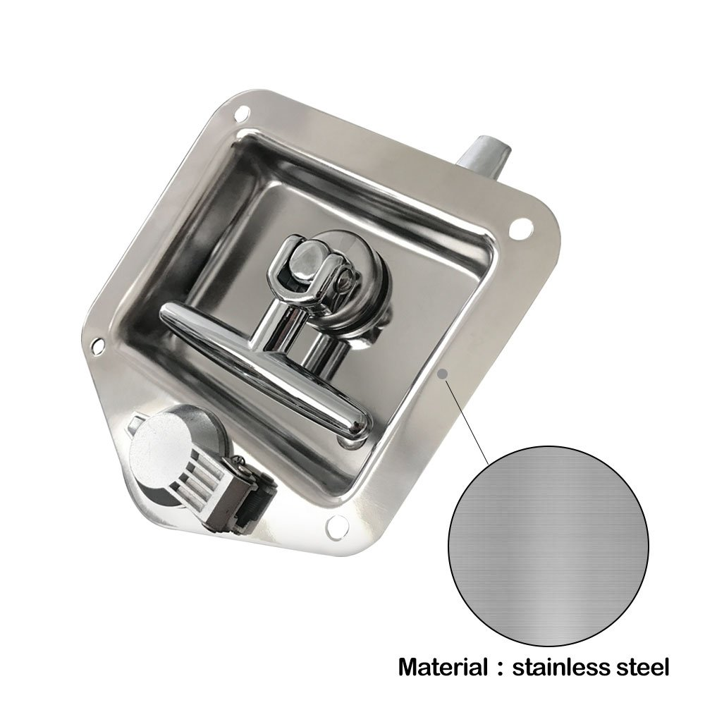 Ninth-City Car Truck Trailer Camp Stainless Steel Folding T Shape Handle Lock Tool Latch by Ninth-City (Image #3)