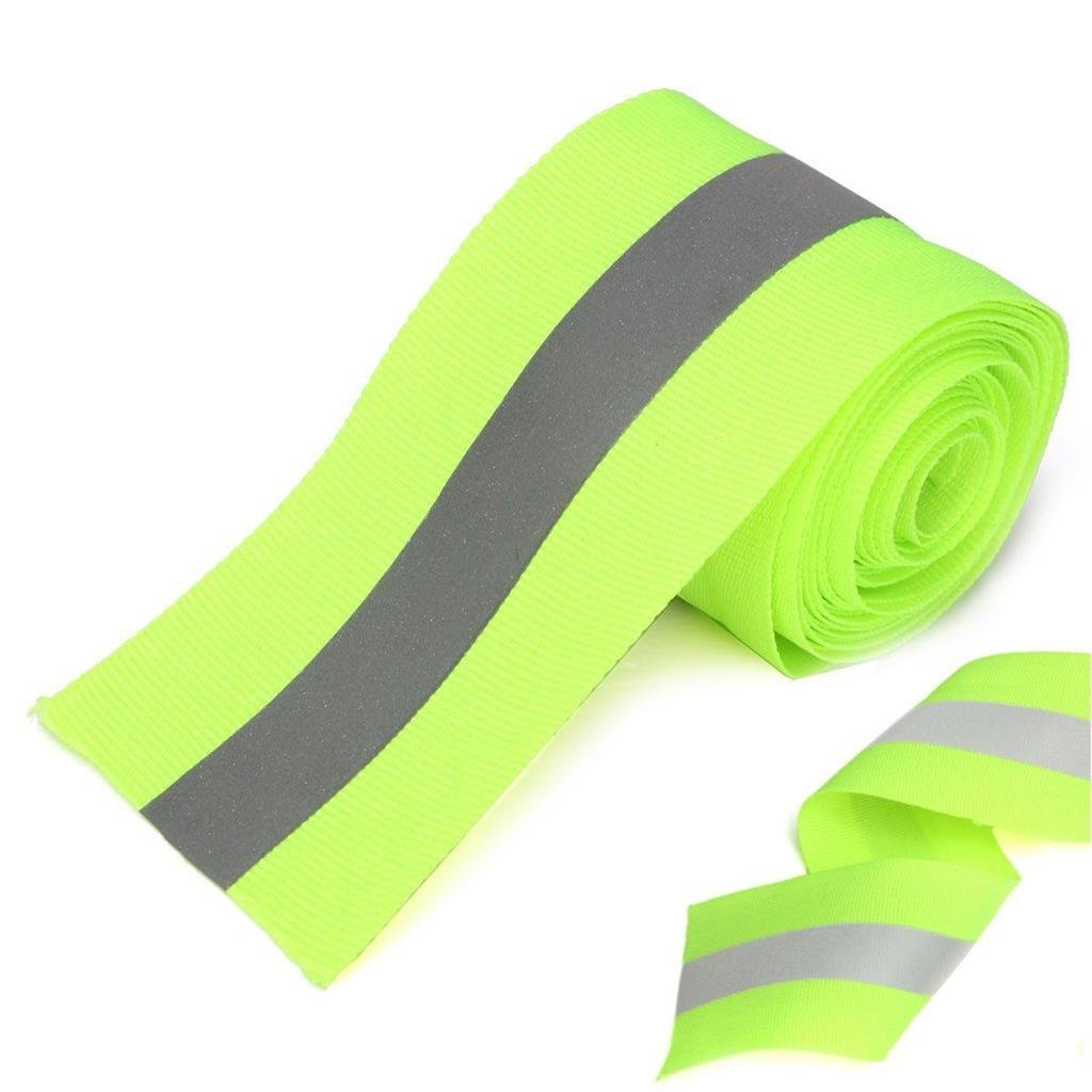 Just In Trend - Flame Resistant FR Sew On High Visibility Hi Vis Retro reflective tape (2'' x 25 yds, Lime/Silver) by Just In Trend (Image #1)