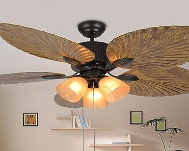 Banda de frecuencia lámpara, lámpara de ventilador, ventilador de techo americana, comedor, salón retro de estilo ...