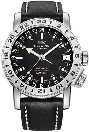 Glycine Airman 17 Reloj para Hombre Analógico de Automático Suizo con Brazalete de Piel de Vaca 3917.19-66 LB9B: Amazon.es: Relojes