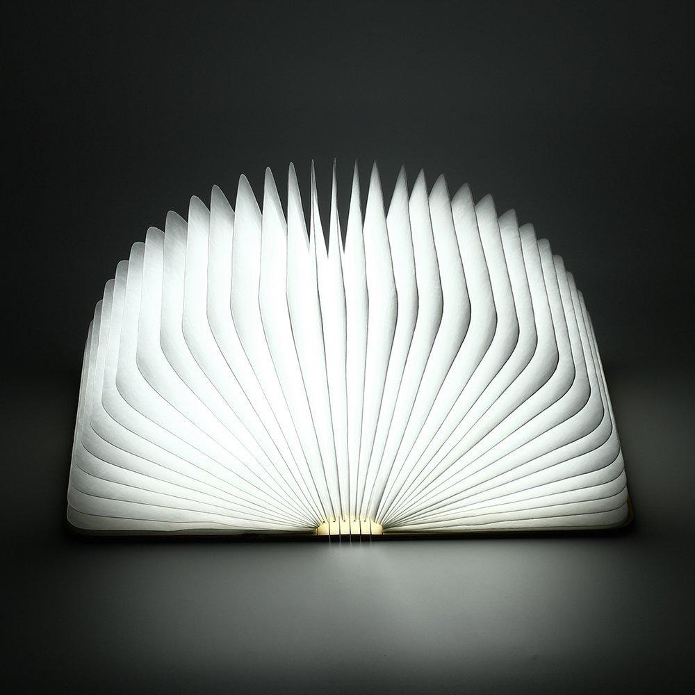 Gearmax Escritorio Lámpara Luz en forma de libro Recargable Plegable de Madera