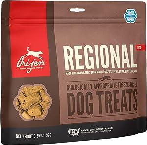 ORIJEN Freeze-Dried Dog Treats, Regional Red, Biologically Appropriate & Grain Free