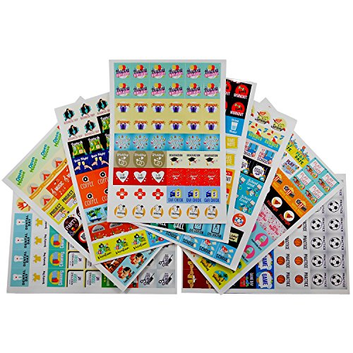 Calendar Planner Stickers   77 Unique Designs  432 Pack   Woman And Mom Daily 2017 Edition   Scrapbook Art  Personal Appointments  Reminders For Birthdays  School  Family  Work  Sports  Holidays