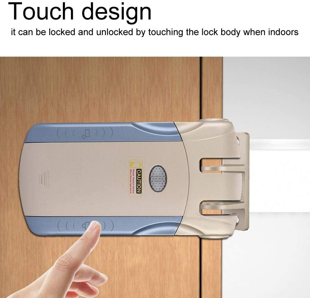Wireless Lock Invisible Keyless Electronic Lock Remote Touch Control Locked and Unlocked D