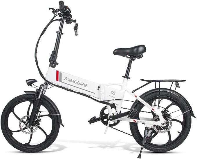 Samebike Bicicleta eléctrica Plegable de 20 Pulgadas 250 W de Alta Velocidad sin escobillas Motor de Engranaje Plegable Bicicletas eléctricas para Adultos Ligero 20LVXD30 estándar 1: Amazon.es: Deportes y aire libre