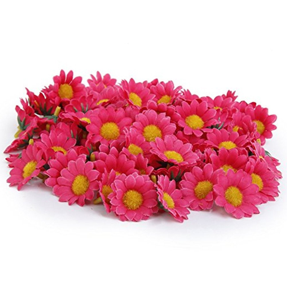 Amazon 100pcs Rose Artificial Flowers Heads Gerbera Daisy