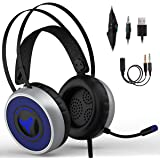 IMBA V8 Gaming Headset for 3D Surround Sound, PS4 Xbox One Headset | Noise Cancelling Mic Chat Headset, Over-Ear Gaming…