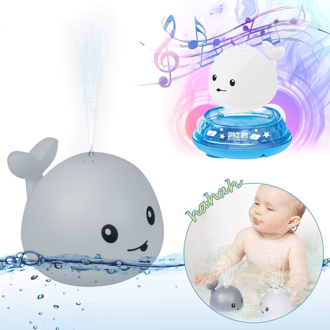 Whale Spray Induction Schwimmende Baden Spielzeug Grau Badewannen Spielzeug Baby Pool Spielzeug O-Kinee Baby Badespielzeug Wasserspielzeug Baby Kinder Kleinkinder Party Geschenk