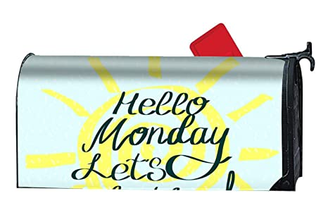 0ae314f48a6d Amazon.com  Verna Christopher Hello Monday Lets Do This Mailboxes ...