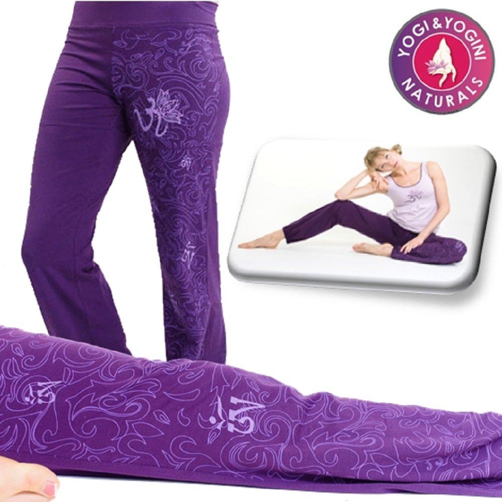 Pantalones de yoga maorí orgánico colour violeta talla S ...