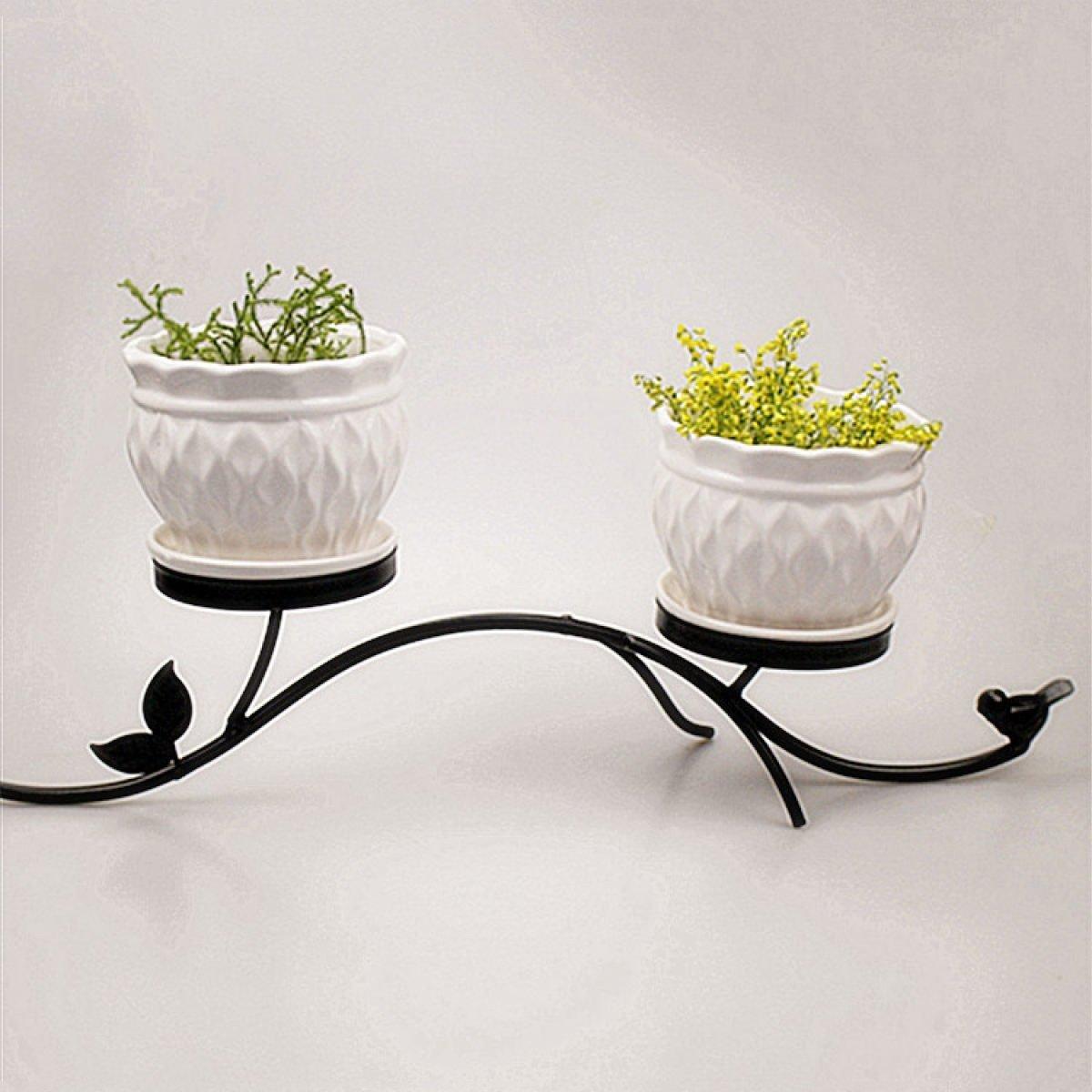 L;IAN Flower Pot Rack Iron Art Indoor Living Room Balcony Floor-Standing Multi-Functional Plant Flower Stand