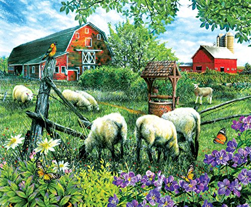 Pleasant Valley Sheep Farm 1000 Piece Jigsaw Puzzle by SunsOut ()