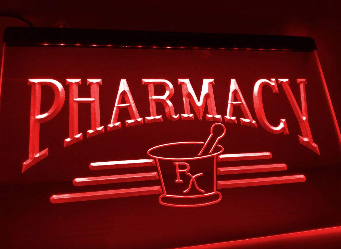 Amazon.com: Pharmacy Compounding RX Neon Sign for Drug Store ...