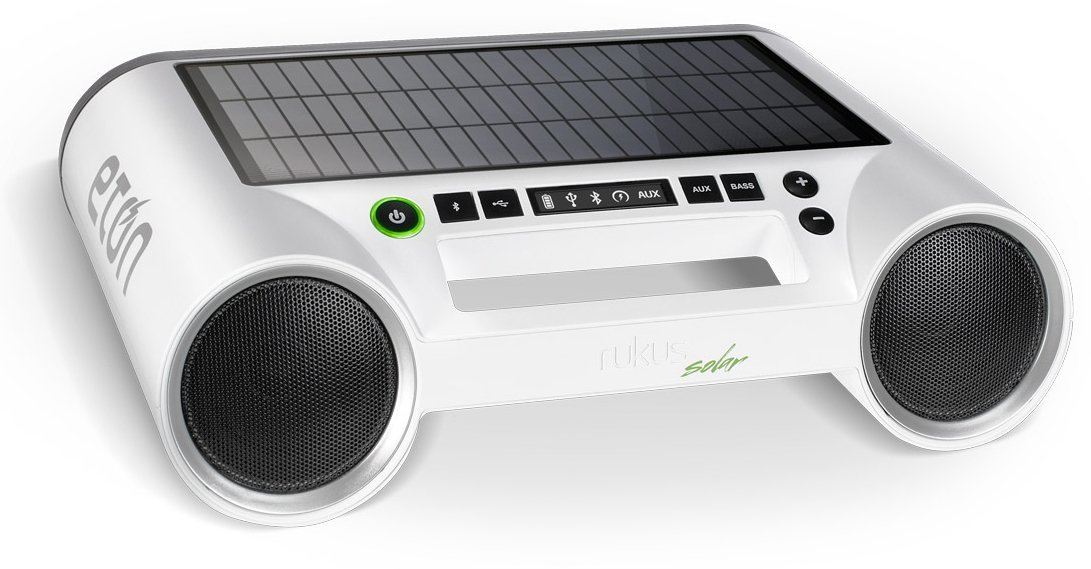 Eton Rukus Portable Bluetooth Solar Powered Wireless Speaker System (White) - (NRKS100W) by Eton