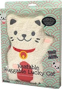 GAMAGO Heatable Huggable Pillow, Lucky Cat