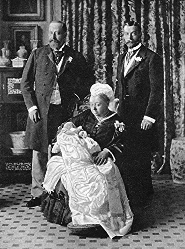 Edward Viii (1894-1972) Nking Of Great Britain 1936 Later Duke Of Windsor On His Christening Day With The Duke Of York George V Queen Victoria And The Prince Of Wales Edward Vii Photograph 1894 Poster - York Windsor Collection
