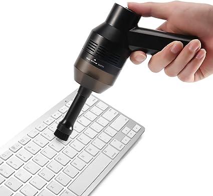 Limpiador de Teclado, Inalámbrico Potente y Portátil Mini Limpiador de Vacío Hoover Para PC Teclado, Teclado Mecánico Para Juegos, Ordenador Portátil, Piano, Muebles, Batería de Li Incorporada: Amazon.es: Oficina y papelería
