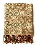 Handmade Luxury Alpaca Throw Blanket from Peru