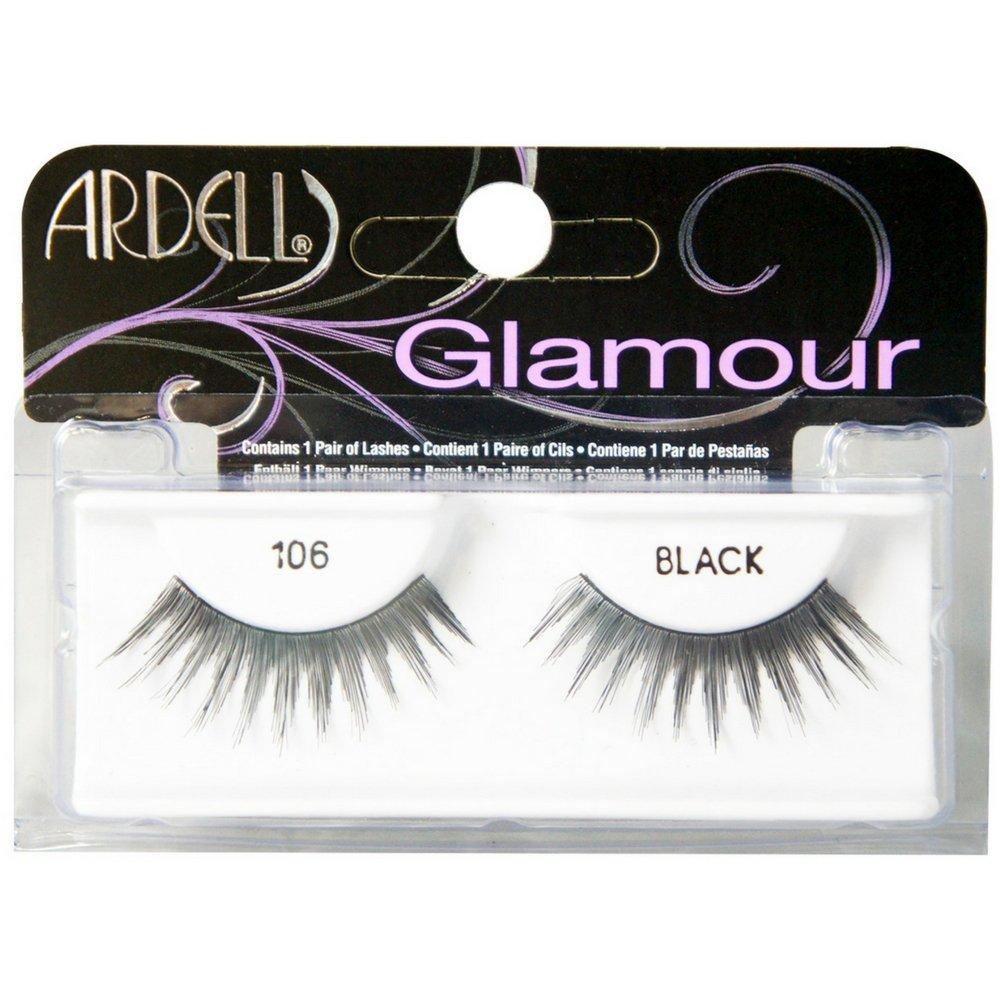 Amazon Ardell Glamour Eye Lashes Black 106 1 Ea Pack Of 4