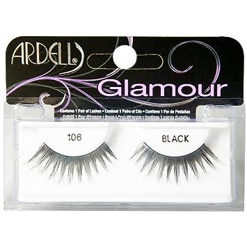 4e9d5dac631 Amazon.com : Ardell Glamour Eye Lashes, Black [106] 1 ea (Pack of 4) : Fake  Eyelashes And Adhesives : Beauty