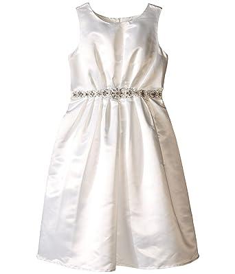 513d664ae9f33 Amazon.com  Us Angels Girls  Satin Dress with Embellished Waist ...