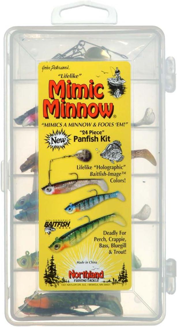 3 Northland Tackle Mimic Minnows Orange MMCT35-12