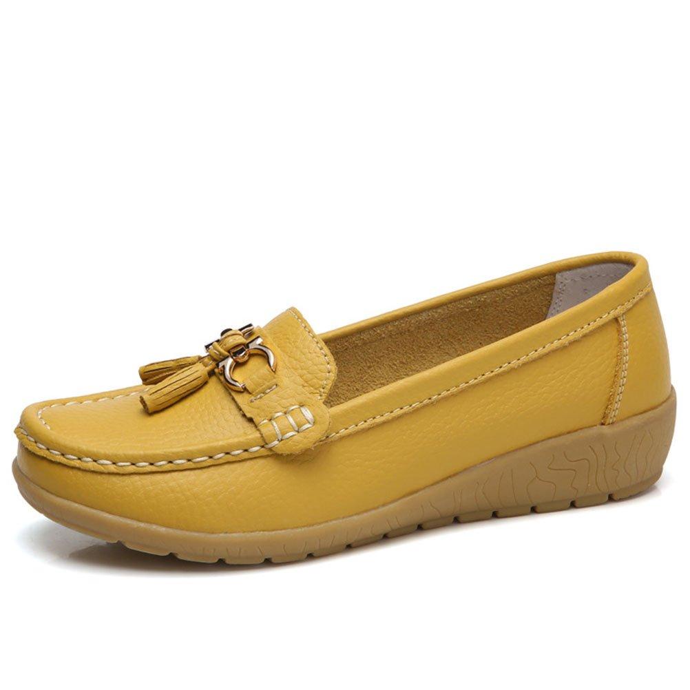 Mallimoda Zapatos De Borla De Cuña Planos Cómodos De Las Mujeres: Amazon.es: Zapatos y complementos