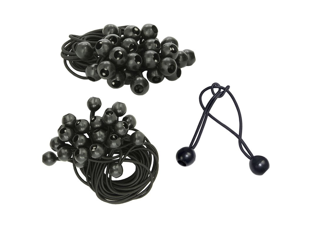 100 Piece 6' Ball Bungee Cord Tie Down Plastic Toggle Balls Straps For Tarp Tents Canopies CHINA