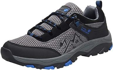 ZARLLE Hombre Botas de Senderismo Impermeables de Ocio al Aire Libre Zapatos de Deporte Zapatillas de Senderismo para Hombre Botas de 39-47 Zapatos de Cordones: Amazon.es: Ropa y accesorios