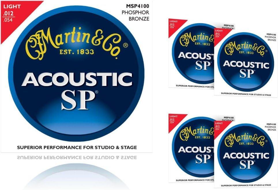5-Pack Martin MSP4100 Phosphor Bronze Light Acoustic Strings