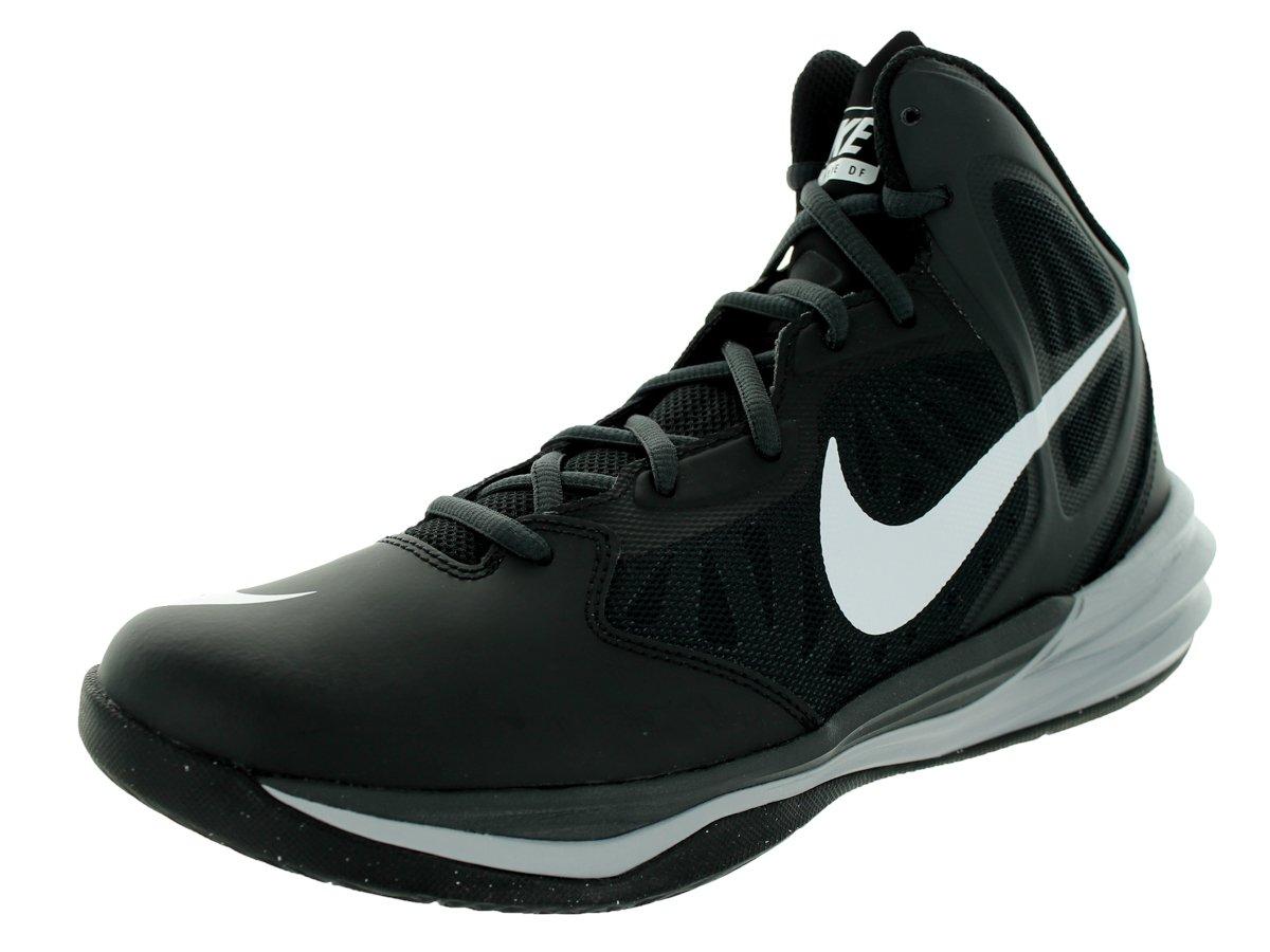 Nike Men's Prime Hype DF Basketball Shoe B004Q9LSG6 8 D(M) US Black/Grey