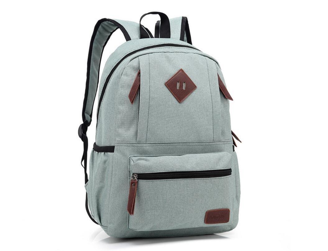 xibeitrade lienzo mochila de viaje mochila escolar bolsa ordenador portátil mochila verde claro: Amazon.es: Electrónica