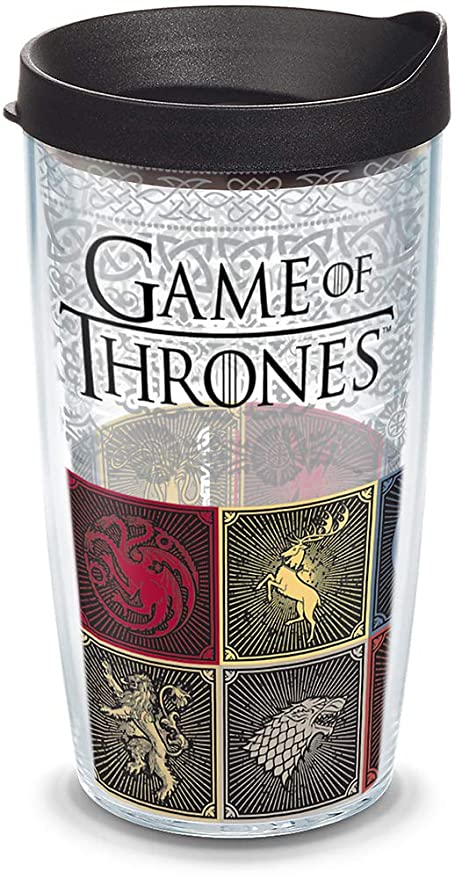 80177a830ec Amazon.com | Tervis 1325326 HBO Game of Thrones - House Sigils Insulated  Travel Tumbler with Wrap & Lid, 16 oz - Tritan, Clear: Tumblers & Water  Glasses