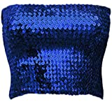 Alivila.Y Fashion Womens Sparkling Sequins Party Tube Top A11-Royal Blue