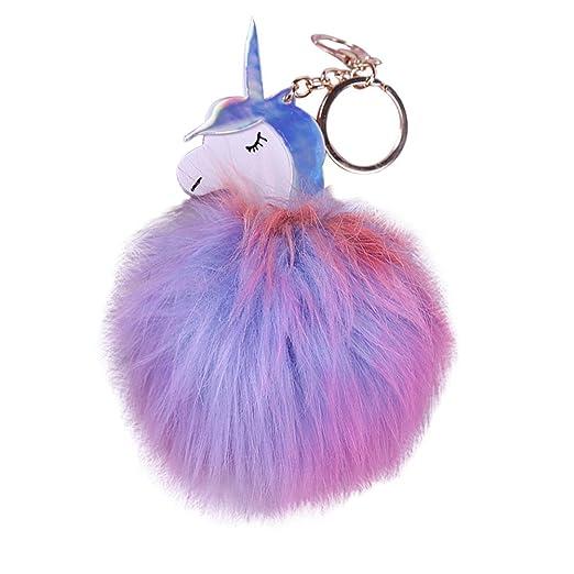 gloryhonor Lovely Fluffy pelo sintético bola Unicorn ...